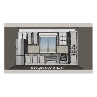 Kitchen Contractor Cabinetry Carperntry Brown Card Business Card