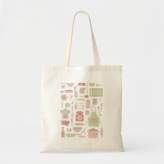 Kitchen Cooking Accessories and Utensils Pattern Tote Bag