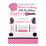 Kitchen Cooking Birthday Party Personalized Invitations