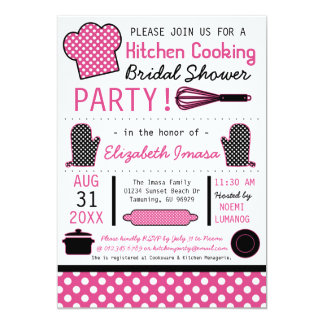 Kitchen Cooking Bridal Shower Party Card