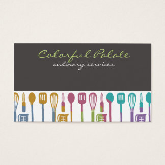 kitchen cooking utensils chef culinary biz cards
