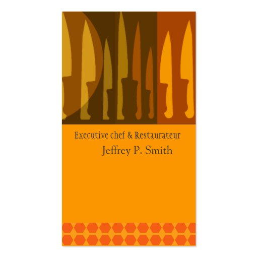 kitchen cooks chef knife standard business card zazzle. Black Bedroom Furniture Sets. Home Design Ideas