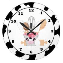 Kitchen Cow fun cartoon wall clock
