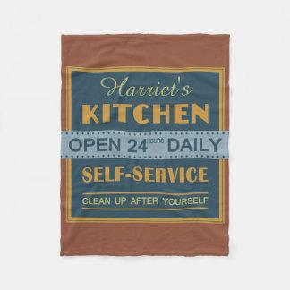Kitchen – custom name – fleece blankets