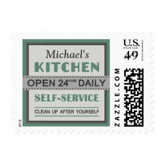 Kitchen – custom name – postage stamps