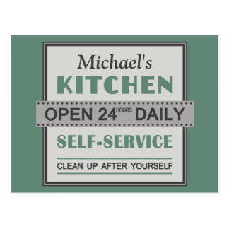 Kitchen – custom name – postcard