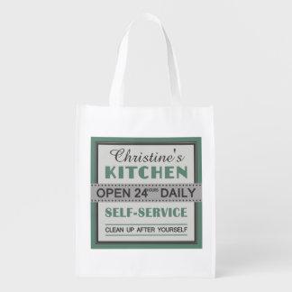 Kitchen – custom name – reusable bag