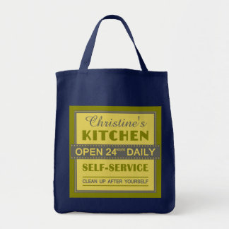 Kitchen – custom name – tote bags