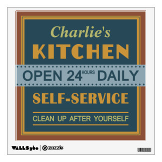 Kitchen – custom name – wall decals
