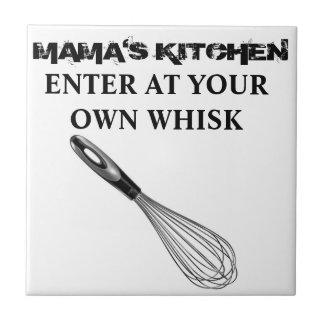 ¡Kitchen de mamá - entre en sus los propios baten! Azulejo Cuadrado Pequeño