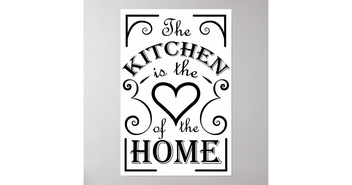 Kitchen design quote poster   Zazzle.com