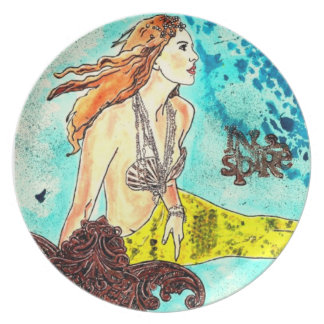 Kitchen / Dining Room Plate Tranquil Waters Sirena