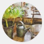 Kitchen - Eat your greens Round Sticker