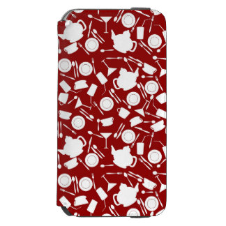 Kitchen Elements Pattern iPhone 6/6s Wallet Case