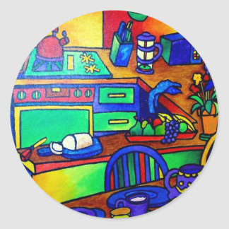 Kitchen Fantasy by Piliero Classic Round Sticker