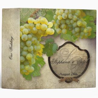 Kitchen Food Bridal Shower Recipe Vineyard Wedding 3 Ring Binder