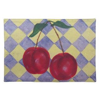 Kitchen Fruit - Cherries Placemat Cloth Place Mat