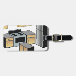 Kitchen Furniture and Appliances Tags For Luggage