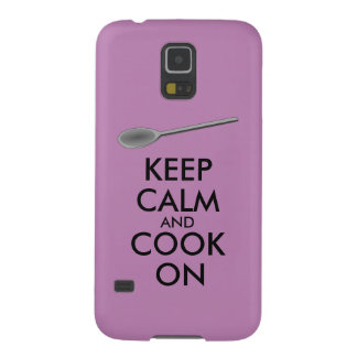 Kitchen Gifts Keep Calm and Cook On Spoon Case For Galaxy S5