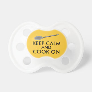Kitchen Gifts Keep Calm and Cook On Spoon Pacifier