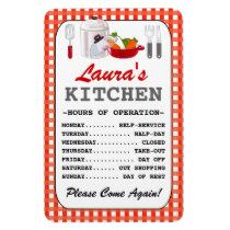 Kitchen Hours (Personalized) Magnet