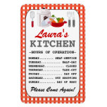 Kitchen Hours (Personalized) Rectangular Photo Magnet