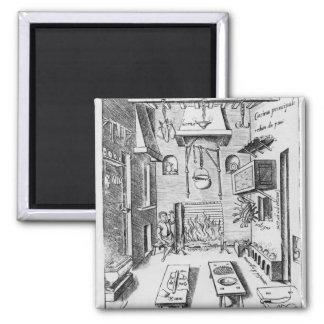Kitchen interior 2 inch square magnet