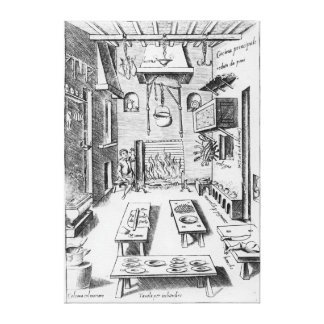 Kitchen interior canvas print