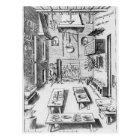 Kitchen interior postcard