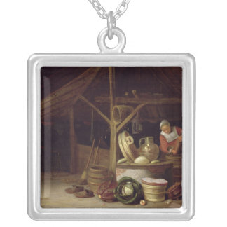 Kitchen Interior Silver Plated Necklace