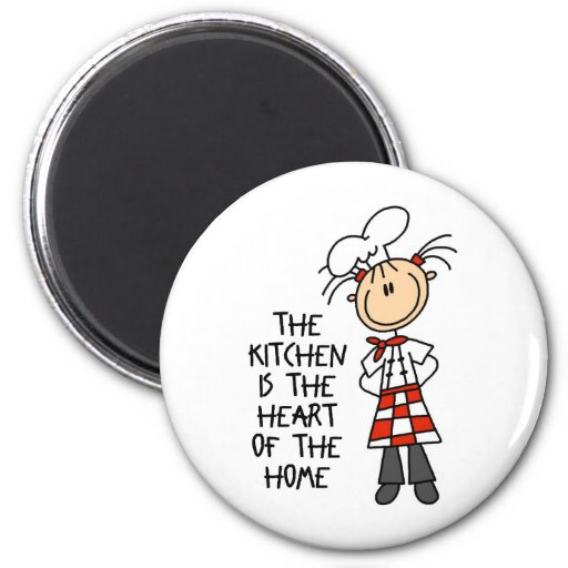 Kitchen Is The Heart Magnet
