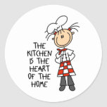 Kitchen Is The Heart Stickers