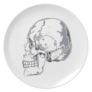 Kitchen items - skull melamine plate