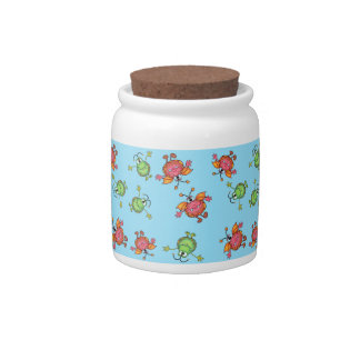 Kitchen jar with monster guards candy dish