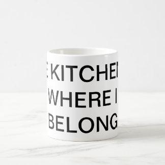 Kitchen joke mug