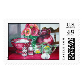 Kitchen Kitsch Postage Stamp