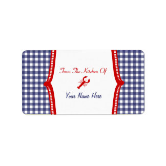 """Kitchen Label- """"From The Kitchen Of""""  Lobster Label"""