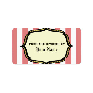 Kitchen Label - Vintage Circus Inspired Address Label