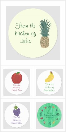Kitchen lid stickers personalized