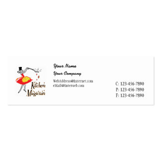 Kitchen Magician Retro Business Card