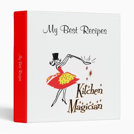 Kitchen Magician Retro Cook Custom Recipe Binder