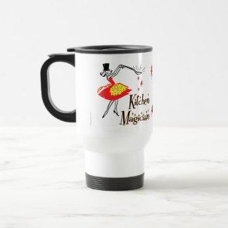 Kitchen Magician Retro Cooking Art Commuter Mug