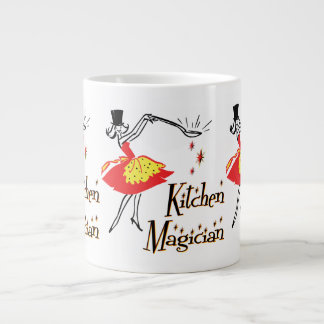 Kitchen Magician Retro Cooking Art Large Coffee Mug