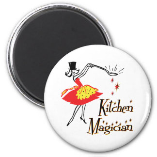 Kitchen Magician Retro Cooking Art Magnet
