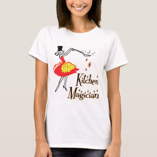 Kitchen Magician Retro Cooking Art  T-shirt