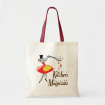 Kitchen Magician Retro Cooking Art Tote Bag bags