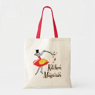 Kitchen Magician Retro Cooking Art Tote Bag