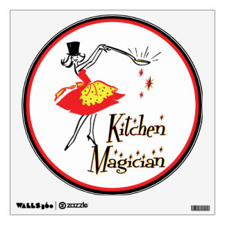 Kitchen Magician Retro Cooking Art Wall Decal