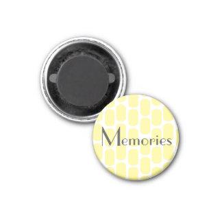 Kitchen Magnet   Memories Photo Holder Yellow