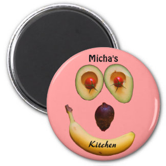 Kitchen Magnet of Smiling Produce